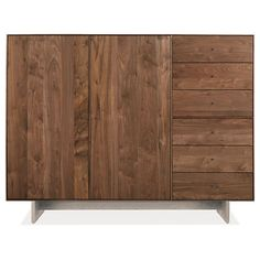 Room & Board - Hudson 65w 20d 50h Storage Cabinet with Wood Base