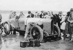 Sir Malcolm Campbell's Blue Bird (re)takes to the beach at Pendine Sands