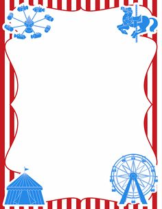 Printable carnival border. Free GIF, JPG, PDF, and PNG downloads at http://pageborders.org/download/carnival-border/. EPS and AI versions are also available.