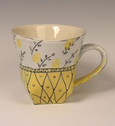 Josie Jurczenia Ceramics - Small Wallpaper Cup click the image or link for more info. Pottery Mugs, Ceramic Pottery, Ceramic Cups, Ceramic Art, Stars Disney, Clay Mugs, Terracota, Pottery Designs, Porcelain Ceramics
