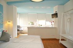 Room Trieste B&B Stop&Sleep Udine Front Civil Hospital #sleeping #room #dream #travel #friuli #light #blue