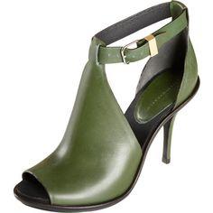 army green cutout heel