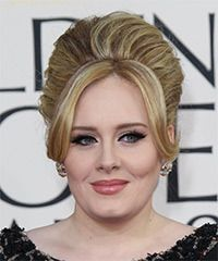 Adele Hairstyle: Formal Updo Long Straight Hairstyle