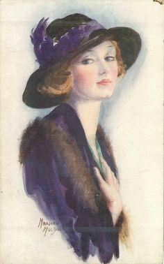 Girls of Today Set - Marjorie Mostyn.  Title: Au Revoir