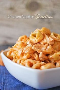 Chicken Vodka Tortellini Recipe ~ Says: The blend of the sauces was AMAZING!