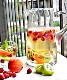 White Sangria Sparkler.  I made this and got tons of compliments! I mixed a Riesling and a Moscato. Good choice :)