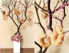 Wedding inspiration: Doughnut Tree For more wedding ideas visit www.celebrationsbydi.com