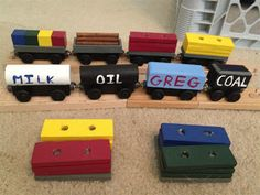 Life is a Game We Play: Homemade wooden train cars