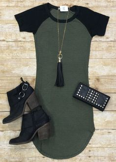 Home Team Tunic Dress: Olive