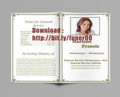 gratis begravelse program skabelon til Word til download