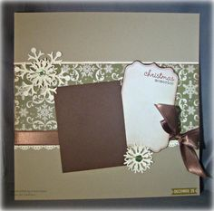 Snowflake -- Premade 12 x 12 Scrapbook Page -- Christmas -- Winter page on Etsy, $9.95