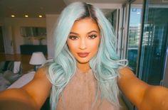kylie Jenner pastel blue hair color