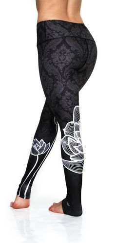 I WANT! Black Lotus Leggings | Yoga Pants | Green Manufacturing | Eco Friendly | Ultra Comfortable Workout Attire | Cute Athletic Clothing | Black Lotus | Premium Activewear http://uniquelyyoga.com/collections/leggings/products/black-lotus