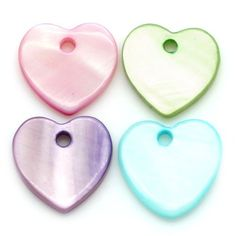 Pack of 20 Heart Shaped Real Pearl Shell Charms in Pastel Shades by Little Freckle, http://www.amazon.co.uk/dp/B00BL17LRW/ref=cm_sw_r_pi_dp_MJeysb1JPVDWJ