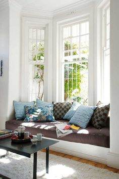 Bay Window Couch bay window seats for the modern home | modern window seat, nook