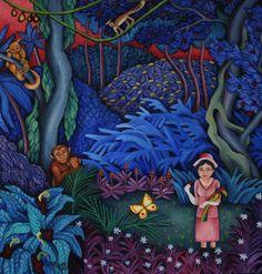 Gallery 1 - Sonja Lehto, naivistisia maalauksia,näin unta kaukaisesta maasta