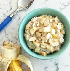 Banana Mango Overnight Oats via LizsHealthyTable.com