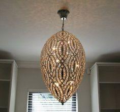 dresser lighting Shabby Cottage, Dresser, Chandelier, Ceiling Lights, Lighting, Home Decor, Rustic Cottage, Powder Room, Candelabra