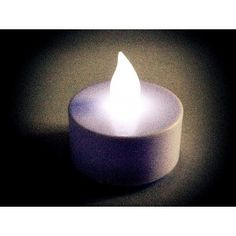 Flickering Tea Lights White 60 pieces