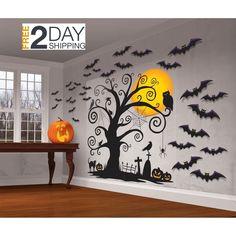 Halloween Effrayant Fantômes Glow in Dark Fenêtre Autocollants fenêtre Decal