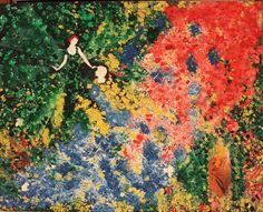 Título: Chuva de cores . Técnica: mista  .  acrílica e colagem . Dimensao: 40 X 50 cm . Ano: 2012 . Valor: R$ 1.600,00