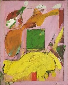 Willem de Kooning, Composition, 1945. Oil on masonite, 18 x 14 1/2 inches