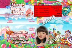 Candy Land Party Favors Candy Bag Labels