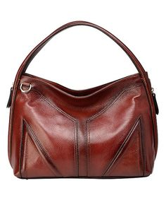 Another great find on #zulily! Red Elle Leather Hobo #zulilyfinds