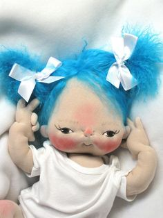 Miss Margaret Blue Soft Sculpture Baby Doll
