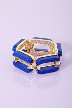 Chained Up Bangle - Blue