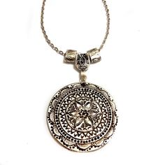 Bohemian Bohochic Boho Silver Hoop charm Oriental by XenaStyle
