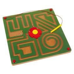 """Legler Magnetické bludisko Abstrakt. Veľkou výzvou pre jemnú motoriku je toto bludisko pod plexisklom! Kolík so silným magnetom vedie guľôčku cez jedno zo 4 bludísk a musia pritom prejsť otočnou """"križovatkou"""". Kto má pokojnú ruku, môže doviesť do cieľa až tri kovové guľôčky! Educational Activities For Kids, Educational Toys, Toddler Activities, Picnic Blanket, Outdoor Blanket, Parlor Games, Labyrinth, Activity Board, Montessori Toys"""