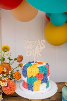 Shag Cake from a Carnival + Street Fair Drive-by Party on Kara's Party Ideas | KarasPartyIdeas.com (9)