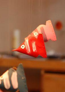 Fische aus klopapierrollen