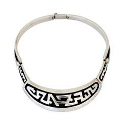 Salvador Teran Sterling Silver Modernist Necklace
