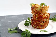 For Passover - Individual Potato and Zucchini Kugels