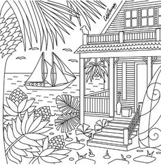 realistic coloring pages for adults scenery  adult