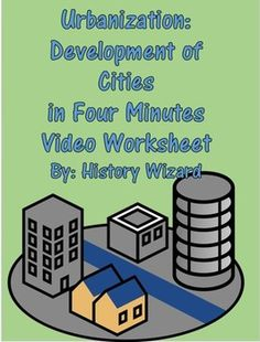 This video worksheet allows students to learn about the development of cities from the Stone Age to the modern era. The video clip is only four minutes long, but it is packed full of information that will keep your students engaged.This video worksheet works great as a Do Now Activity or as a complement to any lecture or lesson plan on historical or geographical perspective on cities.