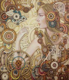 © Iyan de Jesus | ilustración | steampunk | óleo| arte a un click | A1CGalería