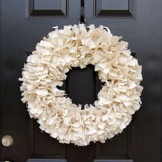 Rag Wreath - Burlap Wreath - Year round wreath - Spring Wreath on Etsy, $39.50