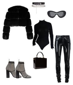 """Slick."" by evxnic on Polyvore featuring Salvatore Ferragamo, Gentle Monster, Givenchy, Donna Karan, Anthony Vaccarello and Dolce&Gabbana"
