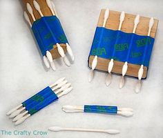 Creative Painting Experiments With Q-tips - Things to Make and Do, Crafts and Activities for Kids - The Crafty Crow