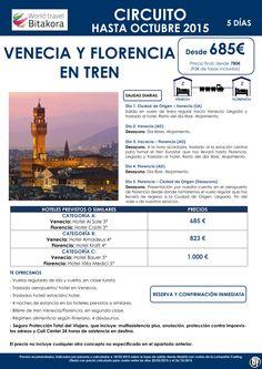 ITALIA: Venecia y Florencia en Tren desde 685€ + tasas ultimo minuto - http://zocotours.com/italia-venecia-y-florencia-en-tren-desde-685e-tasas-ultimo-minuto/