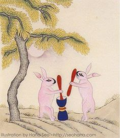 Korean folklore – the Rabbit in the Moon