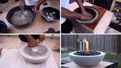 Here's a modern DIY concrete outdoor fire bowl that will help to get your backyard ready for summertime entertaining.
