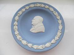 Sir Winston Churchill Jasperware Pin Dish by Wedgwood Made in