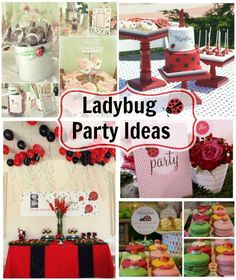 A collection of ladybug party ideas that range from bright and colourful to pretty pastels. A ladybug party is a delight for both boys and girls. 1st Birthday Party For Girls, Frozen Birthday Party, Birthday Party Favors, 2nd Birthday, Birthday Ideas, Cake Pops, Party Planning Checklist, Bubble Guppies Birthday, Ladybug Party