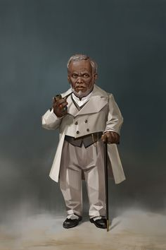 Men of Color In Fantasy Art — Mayor Milo from Wild West characters design...