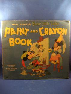 "Scarce Disney ""Brave Little Tailor"" Paint Book 1938 | eBay"