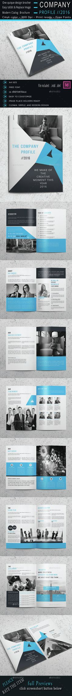 The Company Profile Brochure Template InDesign INDD. Download here: http://graphicriver.net/item/the-company-profile/14953816?ref=ksioks